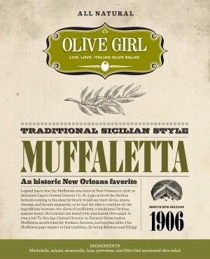 Muffaletta Sandwich Label